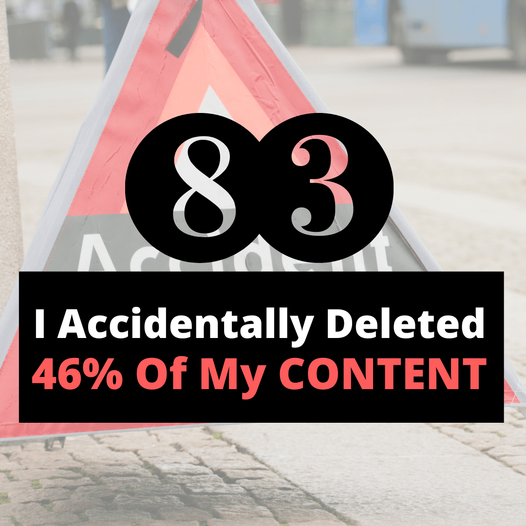 deleted my content