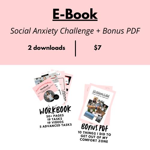social anxiety challenge workbook